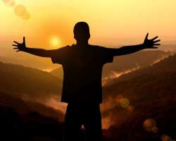 man, open arms, intimacy with God