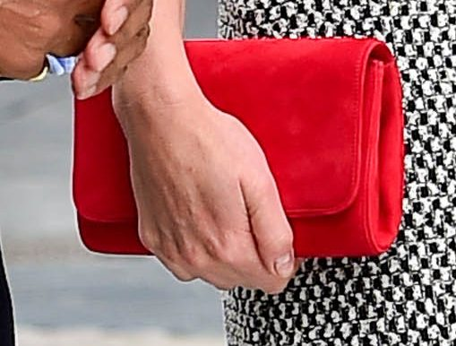 Emmy red 'Natasha' clutch