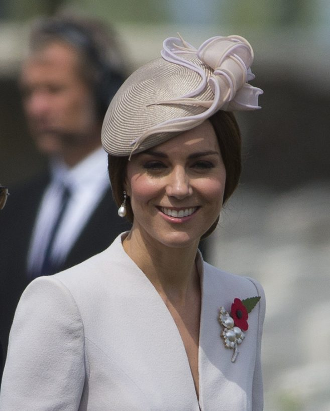 The Duchess of Cambridge in Tyne Cot, Belgium in 2017 for Passchendaele commemorations.