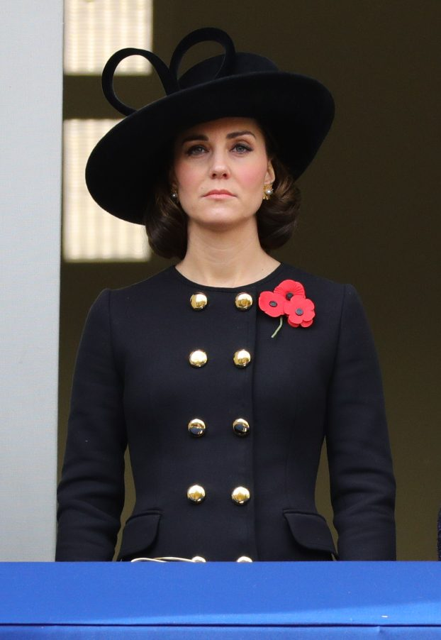 Catherine, Duchess of Cambridge at Remembrance Sunday at the Cenotaph MoD)