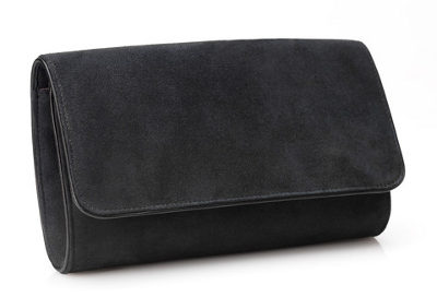 Emmy 'Natasha' carbon grey clutch