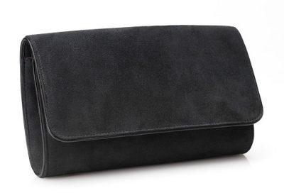 Emmy 'Natasha' carbon grey clutch