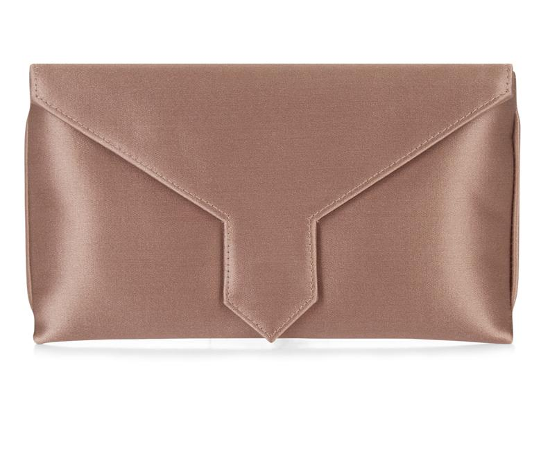 Wilbur and Gussie Bespoke Charlie Oyster Silk Clutch