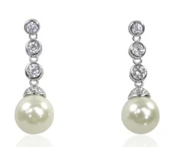 Heavenly Necklaces The Pearl and Diamond Earrings