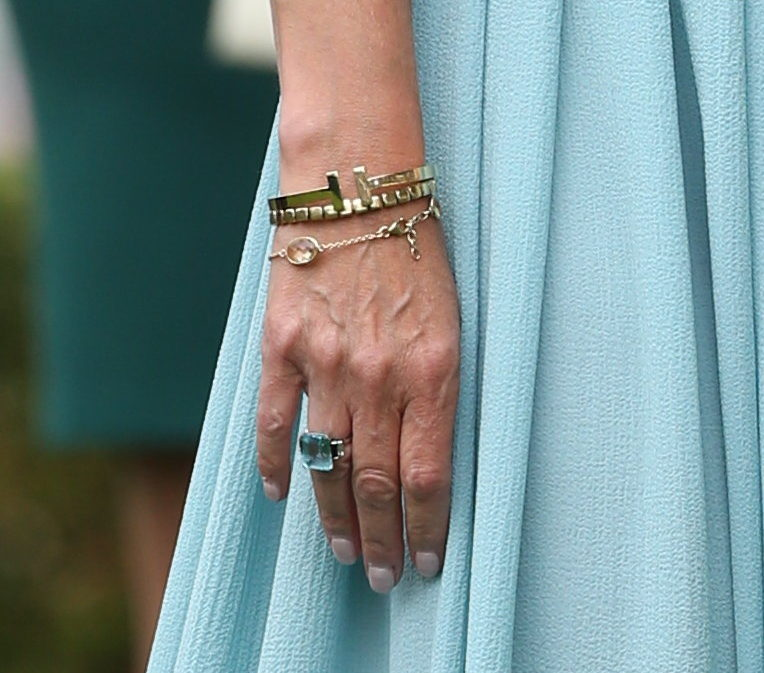 A look at The Countess of Wessex's bracelets, including a piece from Tiffany and Heavenly Necklaces. Picture by Stephen Lock / i-Images