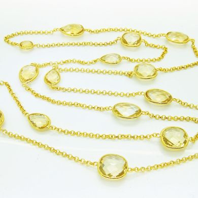 Heavenly Necklaces citrine long necklace