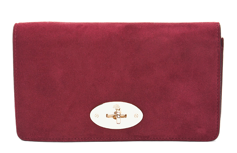 Mulberry 'Bayswater' red clutch