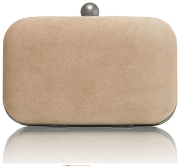 Russell & Bromley 'Curvy' cream clutch bag