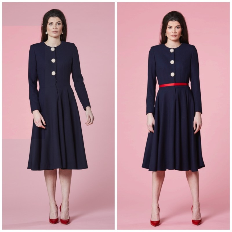 Autumn Phillips chooses midnight blue ensemble for Easter Sunday & Queen's birthday