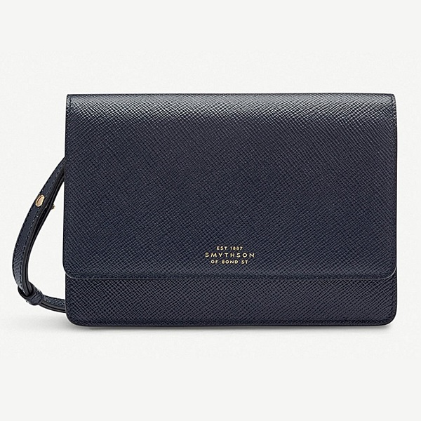 Smythson 'Panama' navy bag