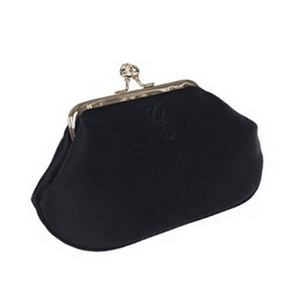 Anya Hindmarch 'Maud' black satin clutch