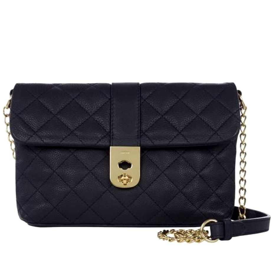 Jaeger 'Kate' navy quilted bag