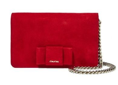 Miu Miu red bow bag