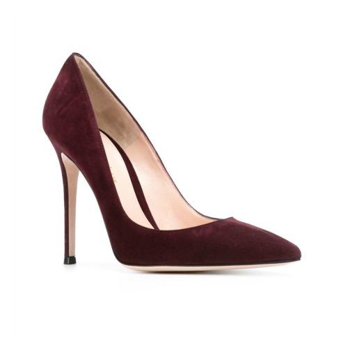 Gianvito Rossi 105 burgundy pointed heel