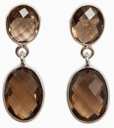 Boho Betty smokey quartz drop earrings