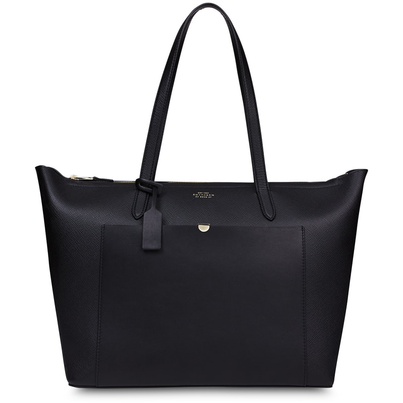 Smythson Panama East West Zip Tote