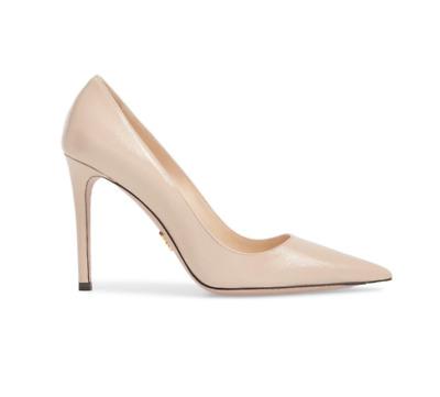 Prada leather 100mm heel