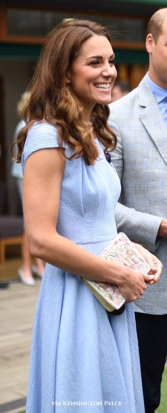 Emilia Wickstead powder blue twist shoulder dress