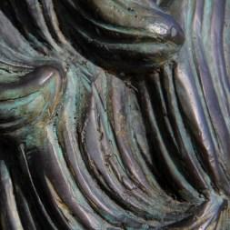 Bronze lion (detail).