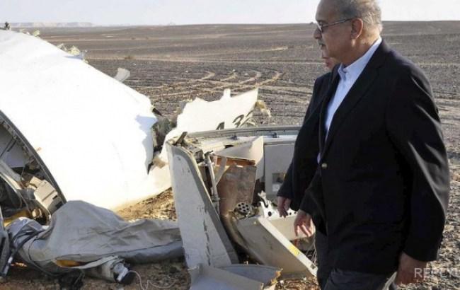 Снимки с места падения российского самолета.