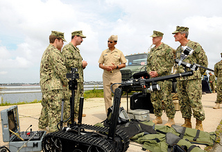 EOD team explains the MK II Talon robot.
