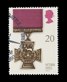 BRITISH - CIRCA 1990: mail stamp featuring the Victoria Cross gallantry medal, circa 1990