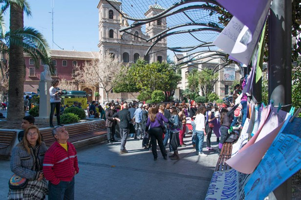 A Murcie, la journée de la femme a failli être annulé par la mairie.