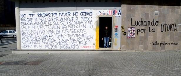 L'une des portes d'entrée du squat surnommé Corrala Utopia.