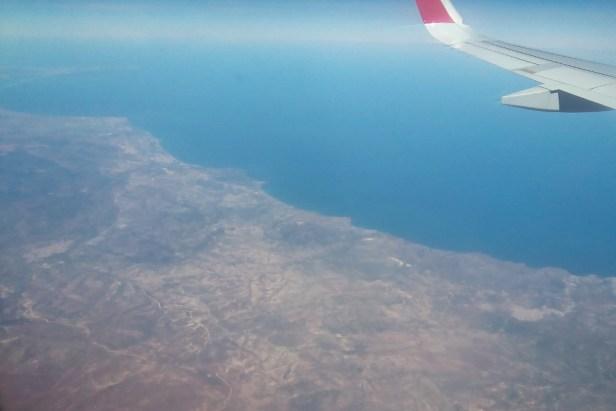 La frontière Maroc Algérie vue du ciel