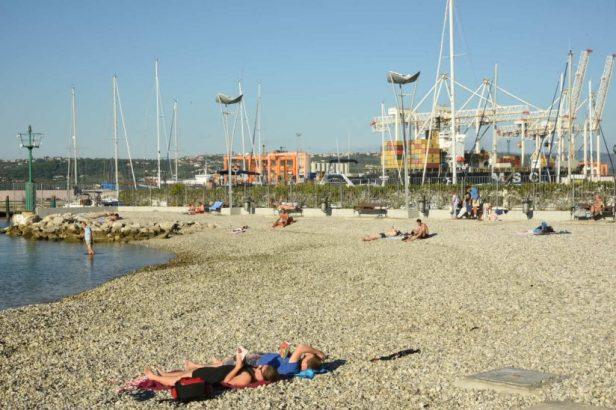La plage de Koper