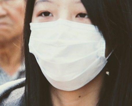 マスク 青色 裏表