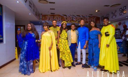Blue-Aloe And Yellow-Vera As ALOE VERA Movie Premieres In Ghana peter sedufia movie