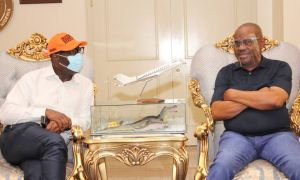 PHOTOS: godwin Obaseki Visits nyesom Wike In Rivers State edo state