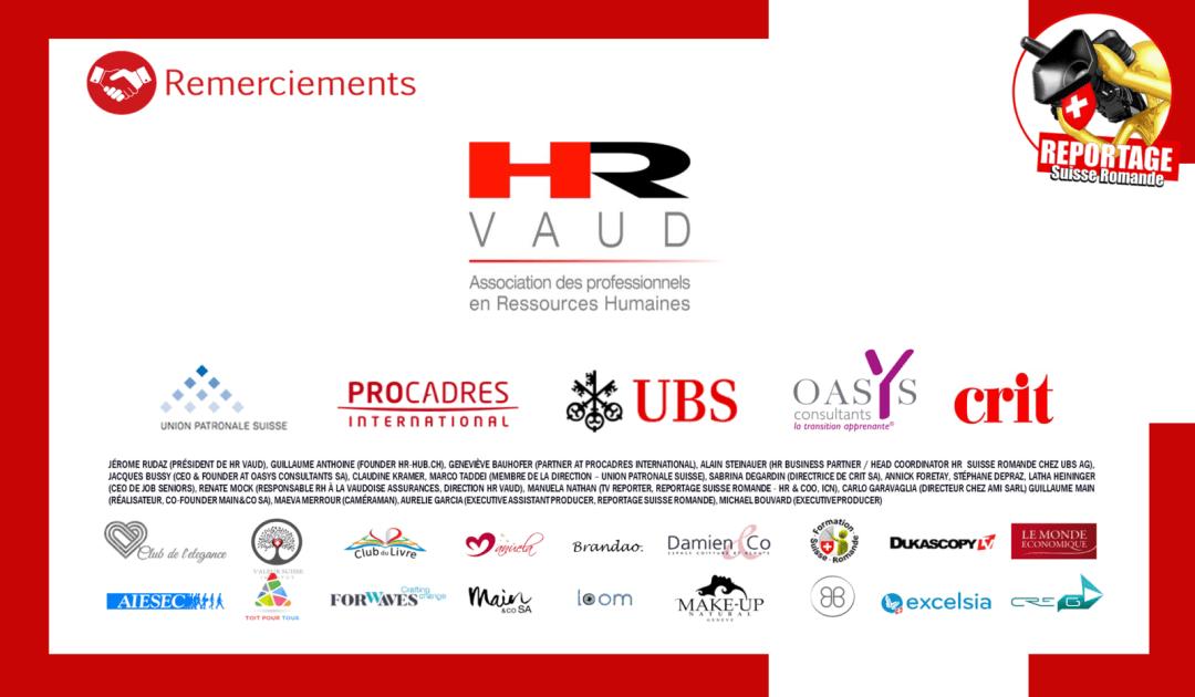 remerciements - UBS - Procadres - Oasys - Crit - HR Vaud - Les seniors ca vaut de l'or