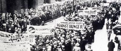 manifestation - crise de 1929 - krach de 29 - effondrement economique -4