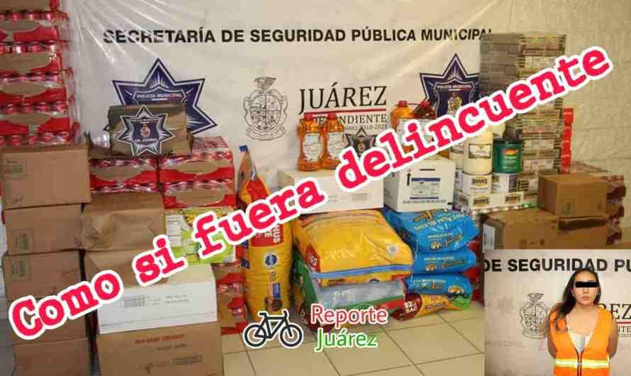 #Policías de Ciudad Juárez detienen a «Peligrosa» comerciante de abarrotes