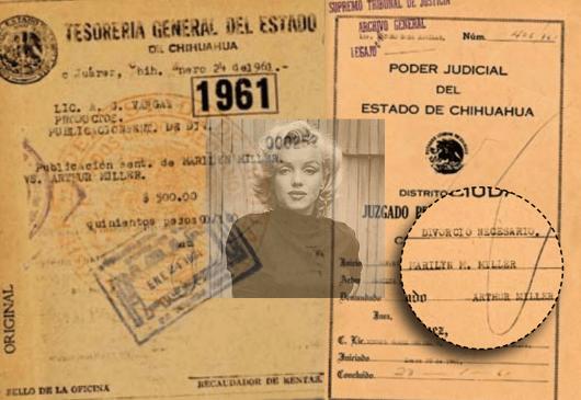 Marilyn Monroe y su divorcio 'al vapor' en Ciudad Juárez