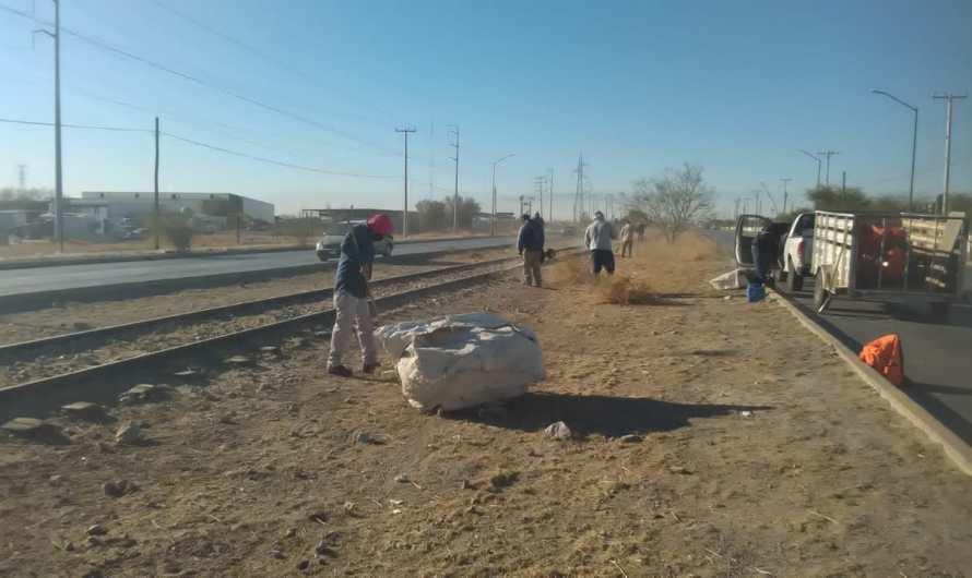 109.6 Toneladas de basura recolectadas en Eje Vial Juan Gabriel