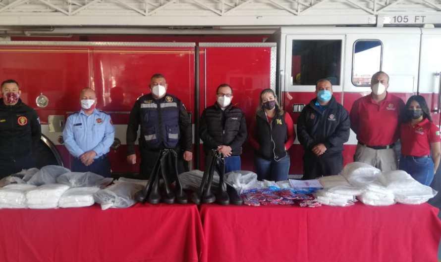 Donan equipo a Protección Civil del Municipio