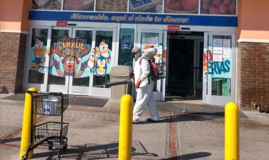 Gobierno Municipal sanitiza 30 supermercados y plazas comerciales