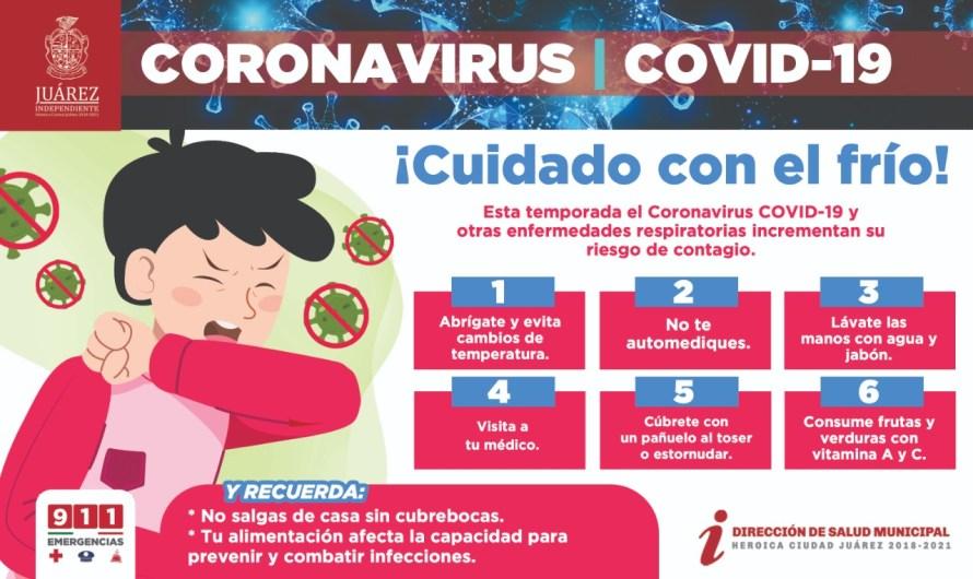 Salud Municipal: Juarenses deben tomar precauciones por bajas temperaturas