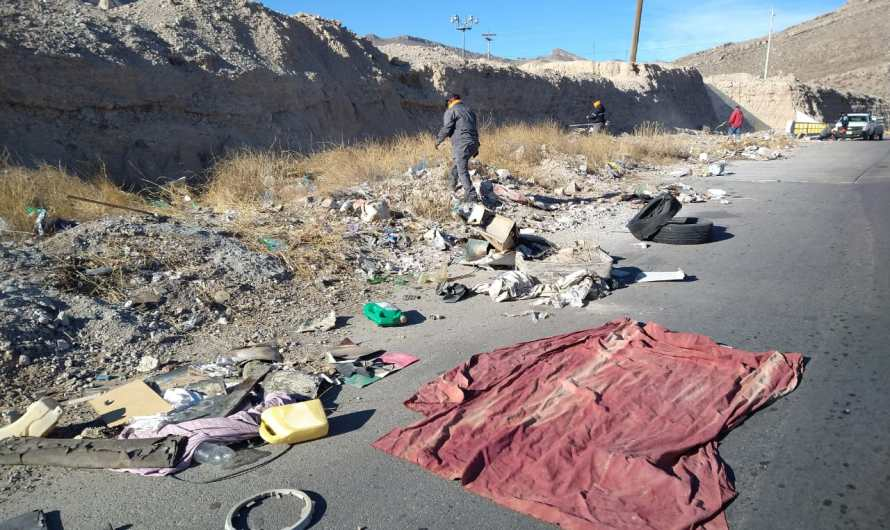 SERVICIOS PÚBLICOS: Inicia limpieza en accesos y salidas del Camino Real