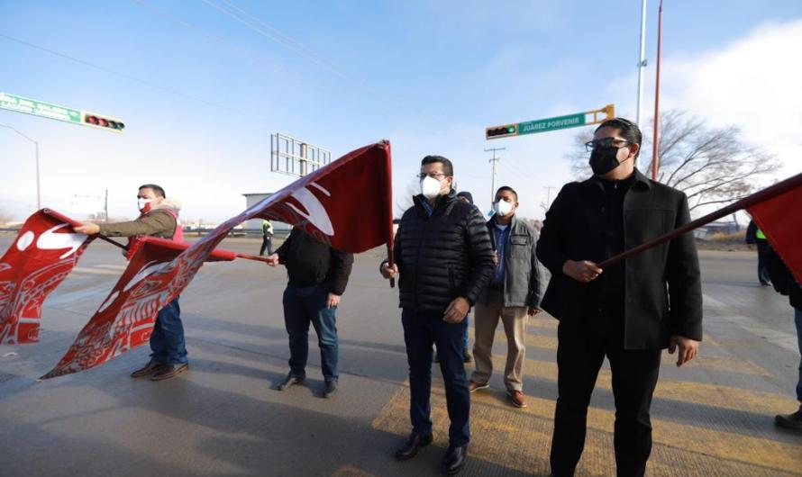 Obras concluidas en Carretera Juárez – Porvenir