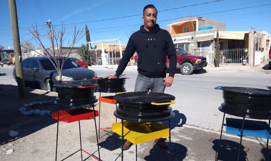 CIUDAD JUÁREZ: ¡Asadores reciclados! Nueva propuesta para la carne asada
