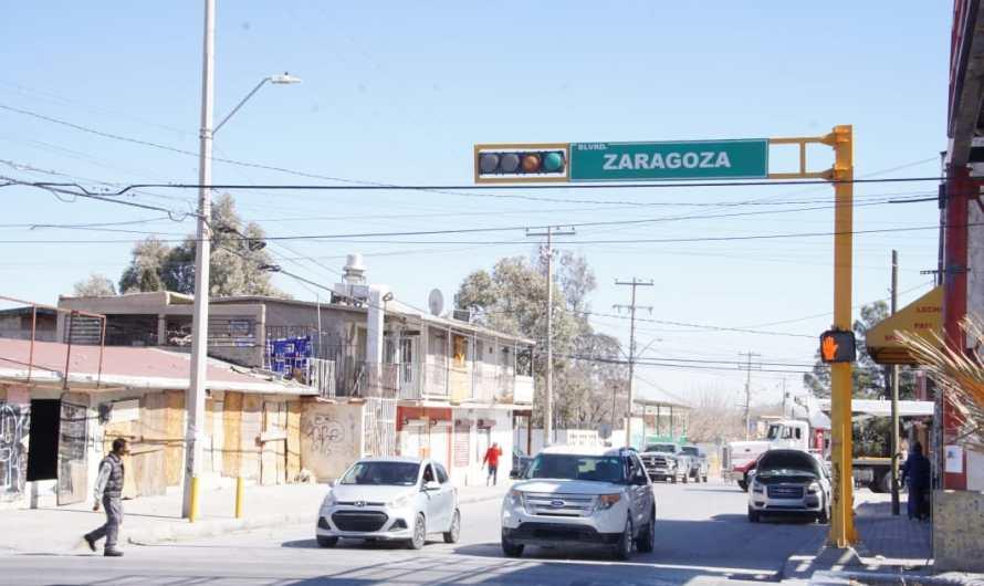 Bulevar Zaragoza ¡estrena semáforos!