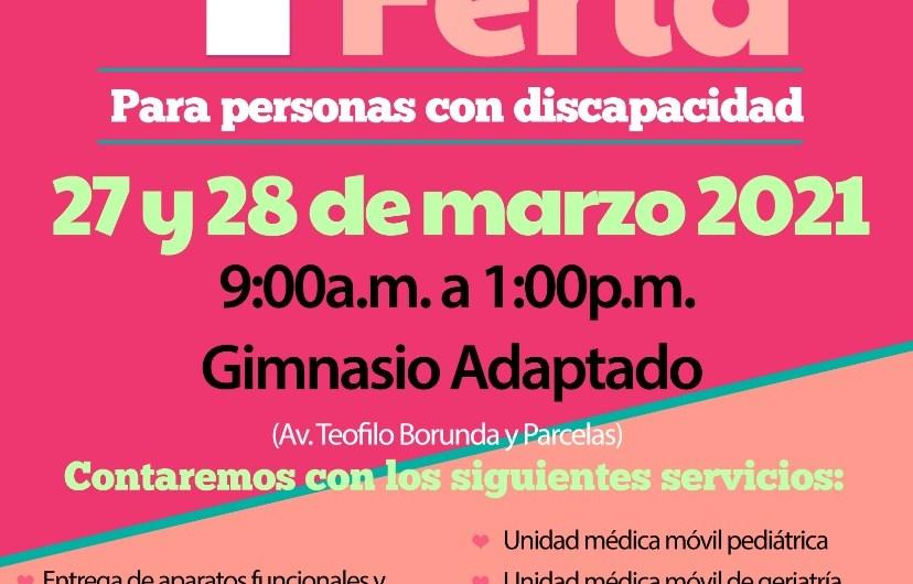 ¡No dejes de asistir! 4ta. Feria para personas con discapacidad