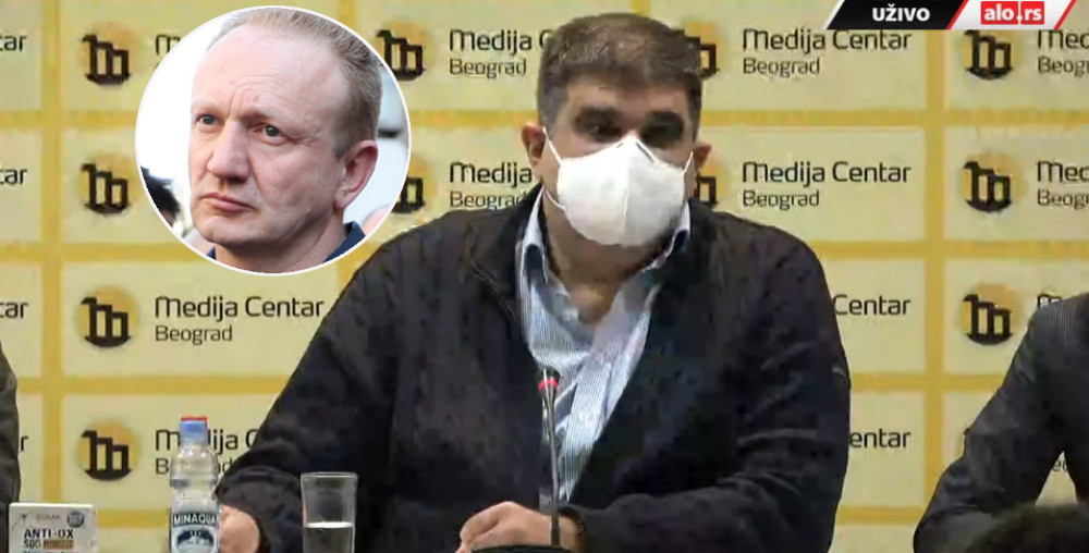 Saša Mirković i Dragan Đilas
