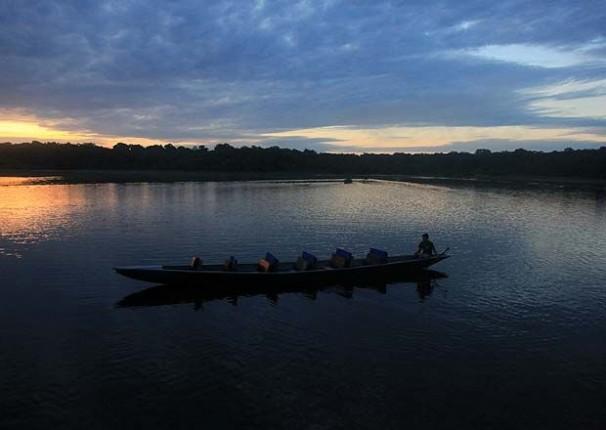 Lago Angu na Reserva Ecológica Lodge Napo Wildlife Center. Foto: Patricio Teran / El Comercio