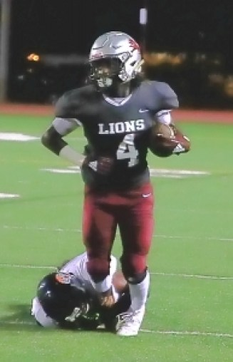 Martin Luther King's Dequan'dre Moore has been a big play guy for the Lions this year. Moore and the Lions face off with the Tucker Tigers in a battle of Region 4-6A co-leaders on Friday. (Photo by Mark Brock)