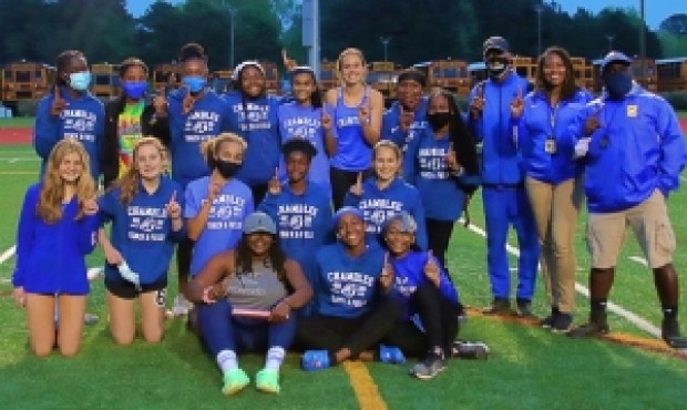 2021 DCSD Girls County Track and Field Champions -- Chamblee Lady Bulldogs